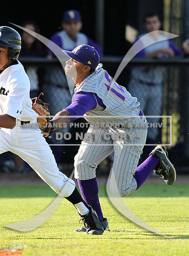 Shortstop Francisco Lindor (12) of the Montverde Academy Eagles varsity baseball team during a game against the Olympia High School Titans at Olympia High School on March 7, 2011 in Orlando, Florida.  (Copyright Mike Janes Photography)