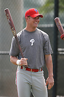 March 18th 2008:  Jeremy Slayden of the Philadelphia Phillies minor league system during Spring Training at the Carpenter Complex in Clearwater, FL.  Photo by:  Mike Janes/Four Seam Images
