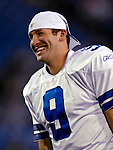 8 October 2007:  Dallas Cowboys quarterback Tony Romo warms up prior to a game against the Buffalo Bills at Ralph Wilson Stadium in Buffalo, New York. The Cowboys defeated the Bills 25-24 for their fifth consecutive win of the season...Mandatory Photo Credit: Ed Wolfstein Photo