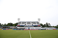 Cary, North Carolina  - Wednesday May 24, 2017: View of the east stand of Sahlen's Stadium prior to a regular season National Women's Soccer League (NWSL) match between the North Carolina Courage and the Sky Blue FC at Sahlen's Stadium at WakeMed Soccer Park. The Courage won the game 2-0.