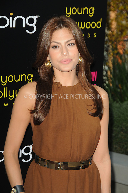 WWW.ACEPIXS.COM . . . . .  ....May 20 2011, LA....Actress Eva Mendes arriving at the 2011 Young Hollywood Awards at Club Nokia on May 20, 2011 in Los Angeles, California. ....Please byline: PETER WEST - ACE PICTURES.... *** ***..Ace Pictures, Inc:  ..Philip Vaughan (212) 243-8787 or (646) 679 0430..e-mail: info@acepixs.com..web: http://www.acepixs.com
