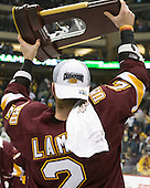 Brady Lamb (Duluth - 2) - The University of Minnesota-Duluth Bulldogs celebrated their 2011 D1 National Championship win on Saturday, April 9, 2011, at the Xcel Energy Center in St. Paul, Minnesota.