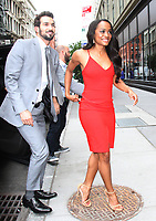 NEW YORK, NY - AUGUST 8: Rachel Lindsay and fianc&eacute;e, Bryan Abasolo at AOL Build to recap this season's The Bachelorette on August 8, 2017 in New York City. <br /> CAP/MPI/RW<br /> &copy;RW/MPI/Capital Pictures