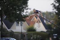 FIERLJEPPEN: IJLST: 23-08-2016, 2e-klasse fierljepwedstrijd, ©foto Martin de Jong