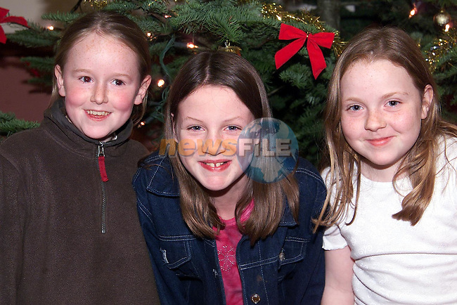 Eavan Kerr, Drogheda Road, Alison Rooney, Dromin and Ceadaoin Farrell, Boat Trench at the Christmas concert by Ardee Concert Band in the Bohemian centre, Ardee..Picture: Paul Mohan/Newsfile