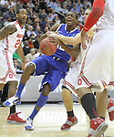 Brandon Knight struggles with the ball in UK's third game of the 2011 NCAA Basketball Tournament, at the Prudential Center, in Newark, NJ, on Saturday, March 25, 2011.  Kentucky beat Ohio State 62-60.  Photo by Latara Appleby | Staff