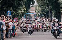 peloton cruising in Rome<br /> <br /> stage 21: Roma - Roma (115km)<br /> 101th Giro d'Italia 2018