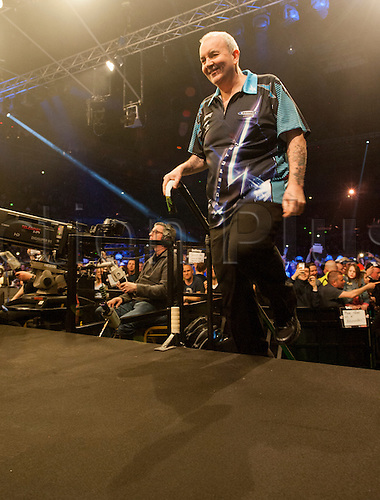 07.04.2016. The Sheffield Arena, Sheffield, England. Betway PDC Premier League Darts. Night 10.  Phil Taylor [ENG] arrives on stage for his match against Gary Anderson [SCO]
