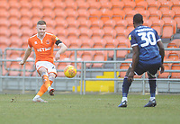 Blackpool's Oliver Turton under pressure from Walsall's Isaiah Osbourne<br /> <br /> Photographer Kevin Barnes/CameraSport<br /> <br /> The EFL Sky Bet League One - Blackpool v Walsall - Saturday 9th February 2019 - Bloomfield Road - Blackpool<br /> <br /> World Copyright © 2019 CameraSport. All rights reserved. 43 Linden Ave. Countesthorpe. Leicester. England. LE8 5PG - Tel: +44 (0) 116 277 4147 - admin@camerasport.com - www.camerasport.com