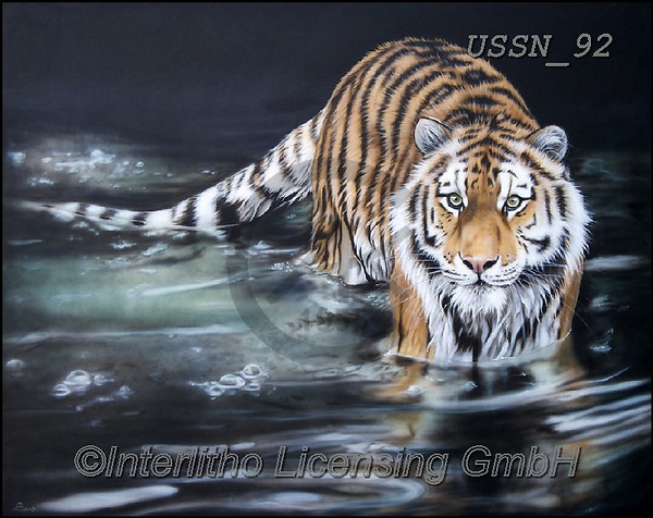 Sandi, REALISTIC ANIMALS, REALISTISCHE TIERE, ANIMALES REALISTICOS, paintings+++++strengthsolace,USSN92,#a#, EVERYDAY ,tiger,tigers, ,puzzles