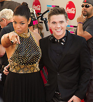 LOS ANGELES, CA - NOVEMBER 24: Jordin Sparks, Jesse McCartney arriving at the 2013 American Music Awards held at Nokia Theatre L.A. Live on November 24, 2013 in Los Angeles, California. (Photo by Celebrity Monitor)
