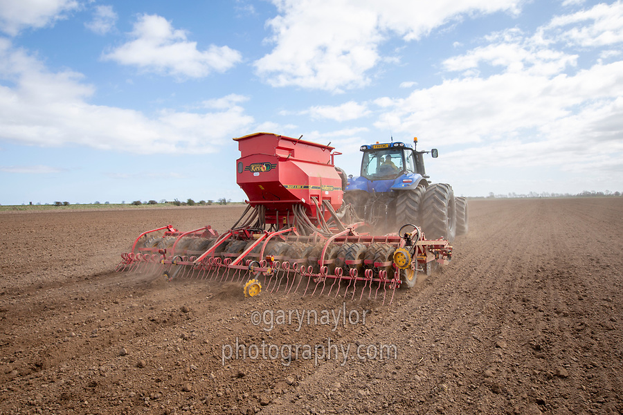 Drilling peas - Lincolnshire March
