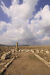 Israel, Lower Galilee, ruins of Sde Amudim ancient Synagogue