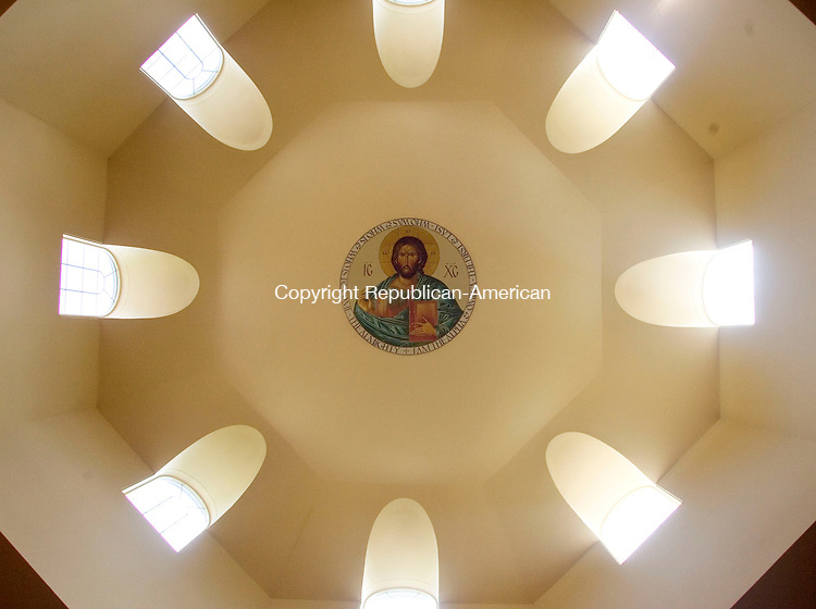 SOUTHBURY, CT- 29 SEPTEMBER 2008- 092908JT06-<br /> The dome inside the sanctuary of Christ the Savior depicts Christ at the Greek Orthodox Church in Southbury on Monday. <br /> Josalee Thrift / Republican-American