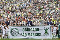 SÃO PAULO, SP, 14 DE JANEIRO DE 2012 - AMISTOSO INTERNACIONAL - PALMEIRAS X AJAX (HOL) - Homenagem a Marcos antes da partida amistosa entre Palmeiras x Ajax (Hol) realizada no Estádio do Pacaembú. FOTO: LEVI BIANCO - NEWS FREE