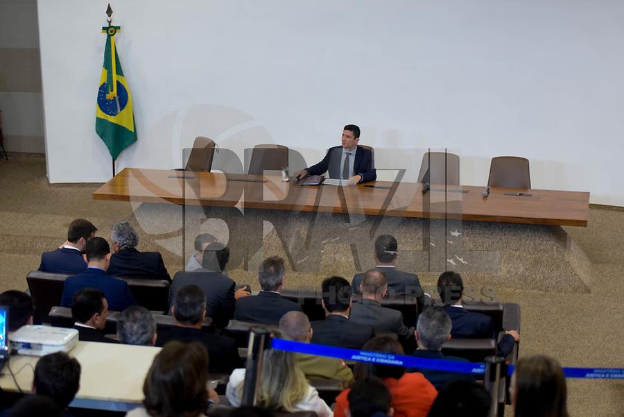BRASILIA, DF, 04.02.2019 –SERGIO-MORO- O ministro Sérgio Moro durante reunião com governadores no Palácio da Justiça em Brasília, na manhã desta segunda-feira, 04. (Foto: Ricardo Botelho/Brazil Photo Press)