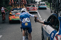 Julien Vermote (BEL/Quick-Step Floors) as human donkey<br /> <br /> 97th Brussels Cycling Classic (1.HC)<br /> 1 Day Race: Brussels &gt; Brussels (201km)