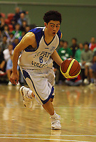 Brook Ruscoe-Taiaroa during the NZ Secondary Schools Basketball Championships match between Fraser High School and St Patricks College at Arena Manawatu, Palmerston North, New Zealand on Saturday 4 October 2008. Photo: Dave Lintott / lintottphoto.co.nz