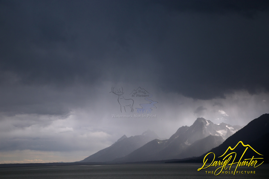 Thunderstorm, Grand Tetons, Jackson Lake, Grand Teton National Park<br />