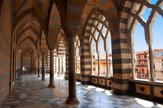 The Moreque style Atrium of Amalfi Cathedral, Italy