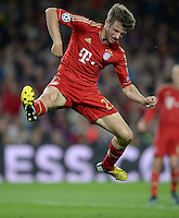 FUSSBALL  CHAMPIONS LEAGUE  HALBFINALE  RUECKSPIEL  2012/2013      FC Barcelona - FC Bayern Muenchen              01.05.2013 Thomas Mueller (FC Bayern Muenchen)