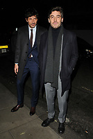 guest and Robert Konjic at the LFW (Men's) a/w2018 GQ Dinner, Berners Tavern, The London Edition Hotel, Berners Street, London, England, UK, on Monday 08 January 2018.<br /> CAP/CAN<br /> &copy;CAN/Capital Pictures