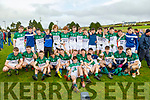 Coláiste Íde agus Iosef, Abbeyfeale celebrate after collecting the  Munster Colleges C Football Final Cup after their win over Gaelcholaiste Chiarrai