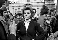 - signature collection by the Radical Party for the package of 8 referendum;  Emma Bonino, leader of the party (Milan, 1977)<br /> <br /> - raccolta di firme del Partito Radicale per il pacchetto degli 8 referendum; Emma Boninp, leader del partito (Milano,1977)