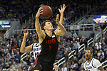 San Diego State forward Yanni Wetzell (5) shoots against Nevada during the second half of a basketball game played at Lawlor Events Center in Reno, Nev., Saturday, Feb. 29, 2020. (AP Photo/Tom R. Smedes)