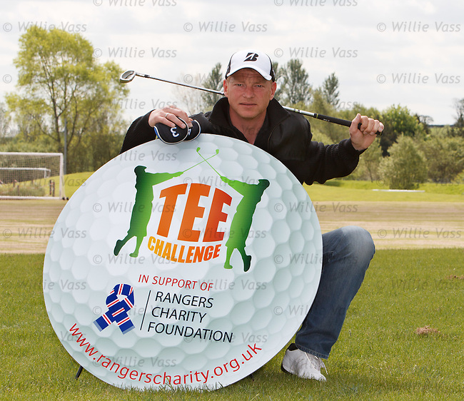 "Jorg Albertz launches his ""Tee Challenge"" playing rounds of golf in Scotland to raise funds for the Rangers Charity Foundation"