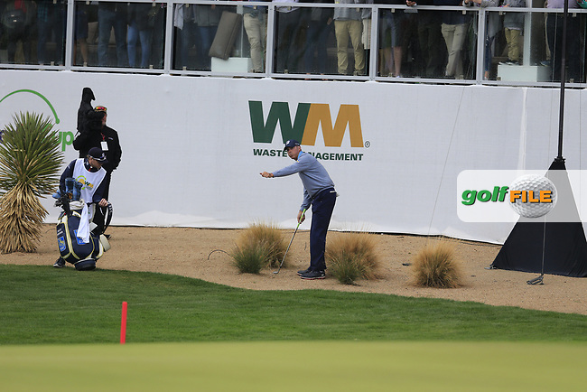 Matt Kucher (USA) on the 17th during the final round of the Waste Management Phoenix Open, TPC Scottsdale, Scottsdale, Arisona, USA. 03/02/2019.<br /> Picture Fran Caffrey / Golffile.ie<br /> <br /> All photo usage must carry mandatory copyright credit (&copy; Golffile | Fran Caffrey)