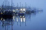"New Bedford fishing trawlers in a ""blue Hour"" twilight mist, was awarded 3rd place in the Wickford Art Association's  May 19, 2013 all media exhibit ""The Blues""."