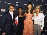 NEW YORK, NY - OCTOBER 03: Diego Scotti, Rose Stuckey Kirk, Zendaya and Rory Kennedyi attends the New York screening of &quot;Withut A Net&quot; at the 55th New York Film Festival on October 3, 2017 at Walter Reade Theater New York City. <br /> CAP/MPI/PAL<br /> &copy;PAL/MPI/Capital Pictures