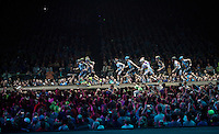 'Le Mans' start for the events show-race<br /> <br /> 'Merci Sven' (twice!) sold out arena event: <br /> tribute-show celebrating Sven Nys' career/retirement together with 18.000 people in the Sportpaleis Arena
