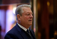 Former United States Vice President  Al Gore arrives at Trump Tower on December 5, 2016 in New York City. U.S. President-elect Donald Trump is still holding meetings upstairs at Trump Tower as he continues to fill in key positions in his new administration. Photo Credit: John Angelillo/CNP/AdMedia