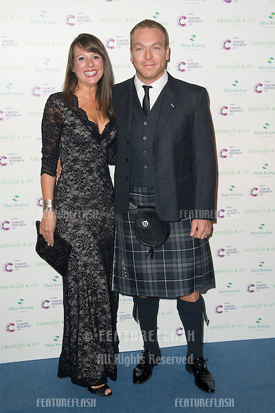 Sir Chris Hoy arriving for the Emeralds And Ivy Ball, London. 01/12/2012 Picture by: Simon Burchell / Featureflash