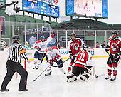 Joe Gambardella (UML - 5), Terrence Wallin (UML - 9), Matt Benning (NU - 5), Clay Witt (NU - 31), Braden Pimm (NU - 14) - The Northeastern University Huskies defeated the University of Massachusetts Lowell River Hawks 4-1 (EN) on Saturday, January 11, 2014, at Fenway Park in Boston, Massachusetts.