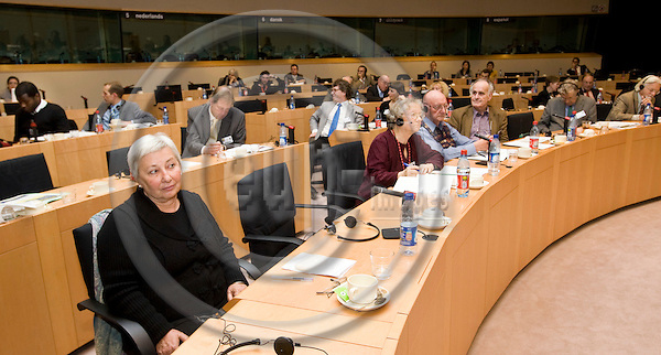 BRUSSELS - BELGIUM - 27 NOVEMBER 2007 -- Religion and Politics in the New Europe - forum hosted by Catholics For Choice in the EU-Parliament. -- Session: Concluding Remarks. -- Audience during the closing session with Marieme Helie LUCAS (foreground Le), Sociologist founder of Woman Living Under Muslim Law. -- PHOTO: JUHA ROININEN / EUP-IMAGES