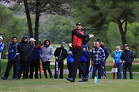 Sebastian Heisele (GER) on the 16th tee during Round 4 of the Challenge Tour Grand Final 2019 at Club de Golf Alcanada, Port d'Alcúdia, Mallorca, Spain on Sunday 10th November 2019.<br /> Picture:  Thos Caffrey / Golffile<br /> <br /> All photo usage must carry mandatory copyright credit (© Golffile | Thos Caffrey)