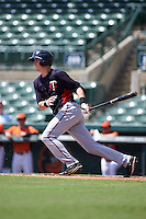 Minnesota Twins Brad Hartong (9) during an instructional league game against the Baltimore Orioles on September 22, 2015 at Ed Smith Stadium in Sarasota, Florida.  (Mike Janes/Four Seam Images)