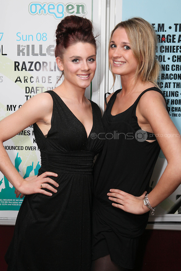 NO REPRO FEE. OXYGEN 2011 LAUNCH. Pictured at the Academy, Dublin for the launch of Oxygen 2011 are Macha O Donnell and Maeve Gordon. The three day music festival which takes place July 8th, 9th, 10th at Punchestown Racecourse, Naas, Co Kildare. Picture James Horan/Collins Photos