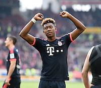 Fussball  1. Bundesliga  Saison 2015/2016  29. Spieltag  VfB Stuttgart  - FC Bayern Muenchen    09.04.2016 Schlussjubel  FC Bayern Muenchen; David Alaba