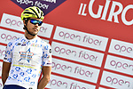 Odd Christian Eiking (NOR) Wanty-Gobert Cycling Team wearing the Maglia Bianca today at sign on before the start of Stage 4 of Il Giro di Sicilia 2019 running 119km from Giardini Naxos to Mount Etna (Nicolosi), Italy. 6th April 2019.<br /> Picture: LaPresse/Fabio Ferrari | Cyclefile<br /> <br /> All photos usage must carry mandatory copyright credit (&copy; Cyclefile | LaPresse/Fabio Ferrari)