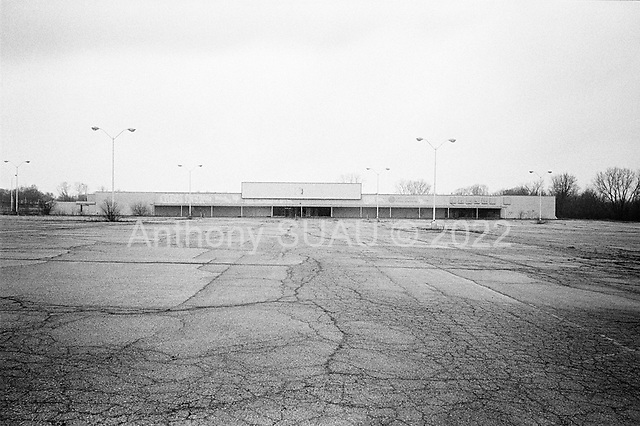 Flint, Michigan<br /> March 25, 2009<br /> <br /> An abandoned Rite Aid in Flint, which is known for being the birthplace of the General Motors Corporation, and the Flint Sit-Down Strike of 1936-37 that played a vital role in the formation of the United Auto Workers.