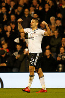 GOAL - Aleksandar Mitrovic of Fulham FC scores again during the Sky Bet Championship match between Fulham and Sheff United at Craven Cottage, London, England on 6 March 2018. Photo by Carlton Myrie.