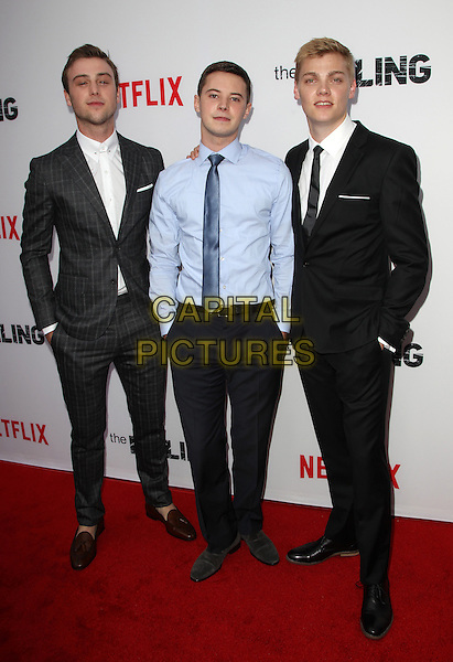 14 July 2014 - Hollywood, California - Sterling Beaumon, Tyler Ross, Levi Meaden. Premiere Of Netflix's &quot;The Killing&quot; Season 4 Held at The ArcLight Cinemas. <br /> CAP/ADM/FS<br /> &copy;Faye Sadou/AdMedia/Capital Pictures