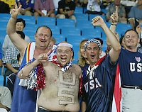 USA fans. The USA lost to Germany 1-0 in the Quarterfinals of the FIFA World Cup 2002 in South Korea on June 21, 2002.