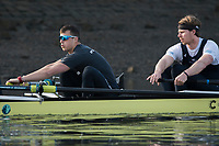 Putney, London,  Tideway Week, Championship Course. River Thames,  Oxford UBC. Bow: William Warr , 2: Matthew O&rsquo;Leary, 3: Oliver Cook 4: Joshua Bugaski, 5: Olivier Siegelaar, 6: Michael DiSanto, 7: James Cook, Stroke: Vassilis Ragoussis and Cox: Sam Collier Oxford UBC<br /> Tuesday  28/03/2017<br /> [Mandatory Credit; Credit: Peter Spurrier/Intersport Images.com ]