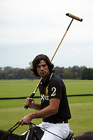 Nacho Figueras photographed astride his polo pony and ready for action