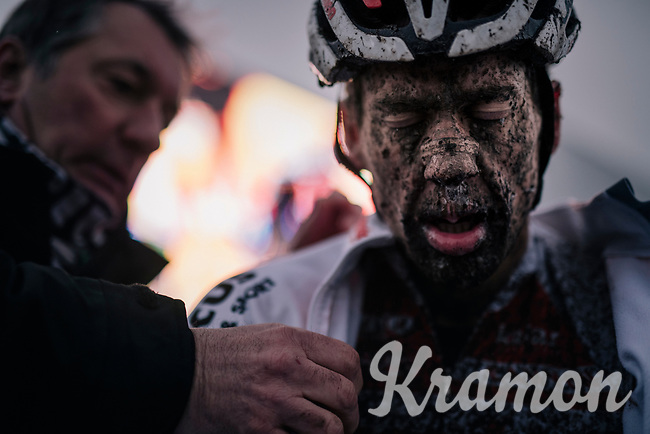 Tom Meeusen's post-race face (BEL/Corendon-Circus)<br /> <br /> Superprestige cyclocross Hoogstraten 2019 (BEL)<br /> Elite Men's Race<br /> <br /> ©kramon